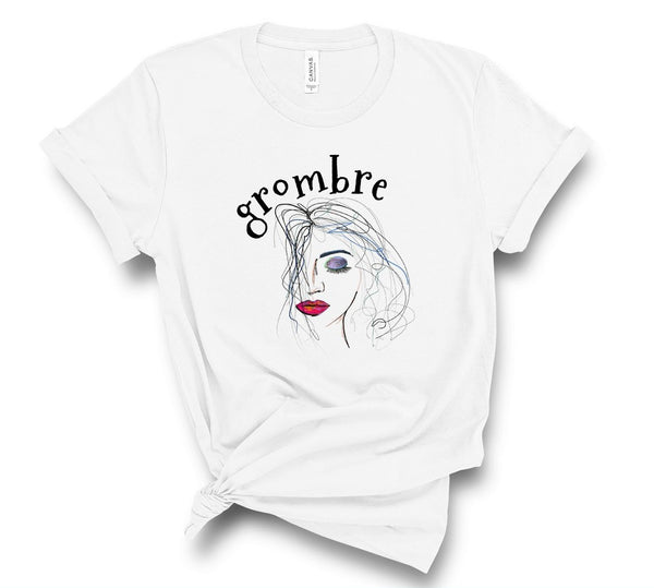 "T shirt by JETT IMPRESSIONS ""Grombre"" Grey Hair Inspiring T shirts for Women"