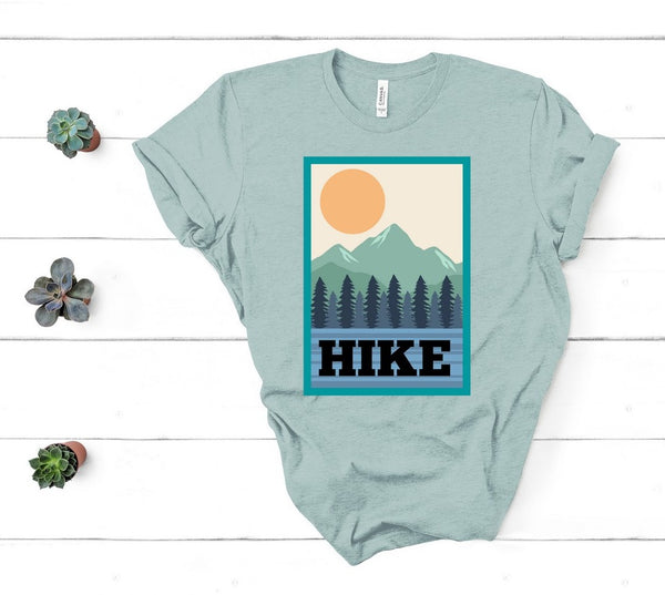 "T shirt by JETT IMPRESSIONS ""HIKE"" Outdoorsy T shirts for Women or Men"