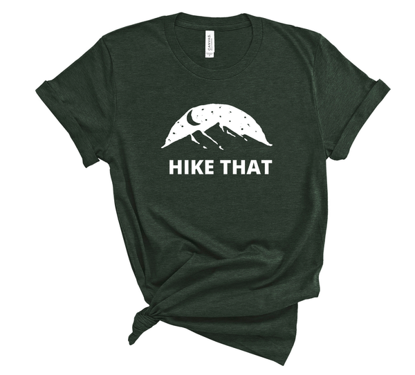 "T shirt by JETT IMPRESSIONS ""Hike That"" Mountain graphic Short Sleeve Unisex T shirt"