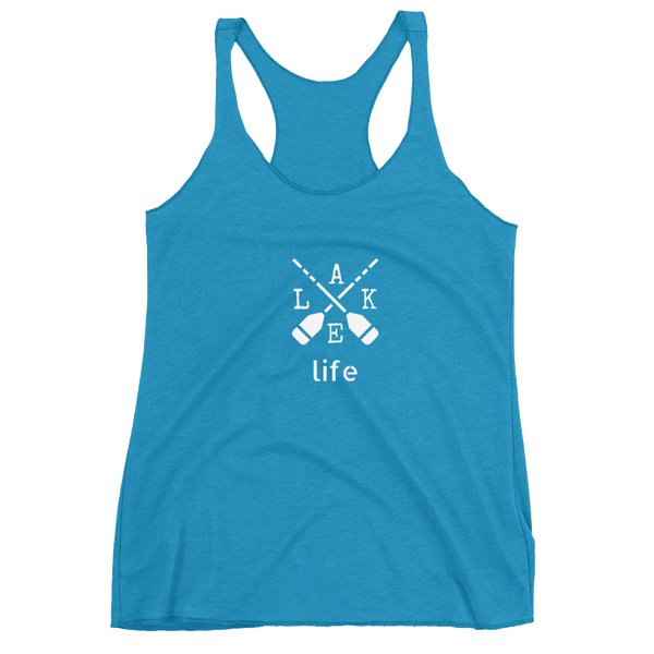 "Women's Racerback Tank by JETT IMPRESSIONS ""Lake Life"" Tank Top"
