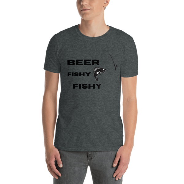 "T shirt by JETT IMPRESSIONS ""Beer Fishy Fishy"" Lake T shirts for Men"