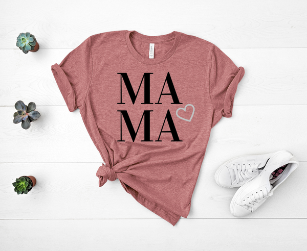 "T shirt by JETT IMPRESSIONS ""MAMA"" Short Sleeve Womens T shirt"