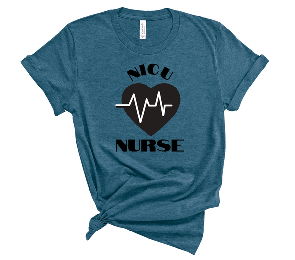 "T shirt by JETT IMPRESSIONS ""NICU Nurse"" Unisex T shirt for Men or Women"
