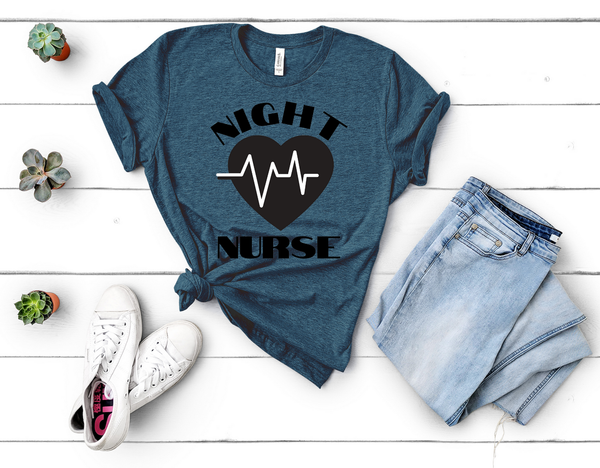 "T shirt by JETT IMPRESSIONS ""Night Nurse"" Night Shift T shirt for Men or Women"