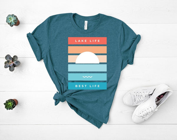 "T shirt by JETT IMPRESSIONS ""Lake Life Best Life"" T shirts for Women or Men"