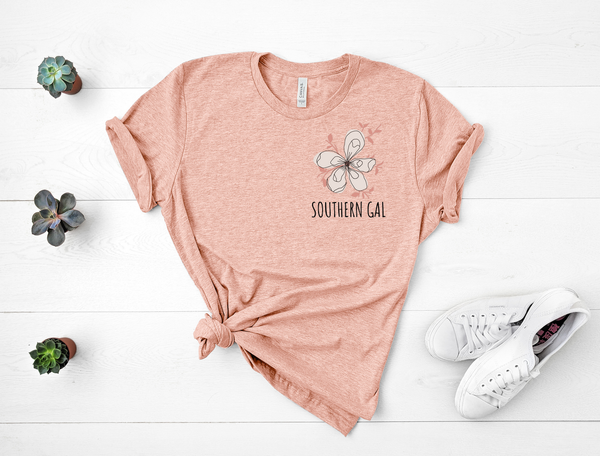 "T shirt by JETT IMPRESSIONS ""Southern Gal"" Short Sleeve Womens T shirt"