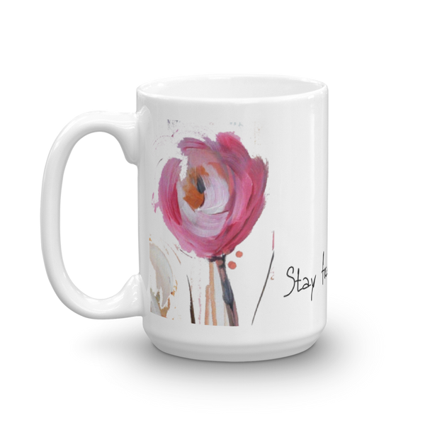 "Mug ""Stay Focused and Extra Sparkly"" Artwork designed by Kathy Morawiec"