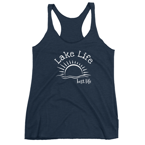 "Women's Racerback Tank by JETT IMPRESSIONS ""Lake Life Best Life"" Tank Top"