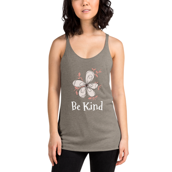 "Women's Racerback Tank by JETT IMPRESSIONS ""Be Kind Magnolia"" Tank Top"