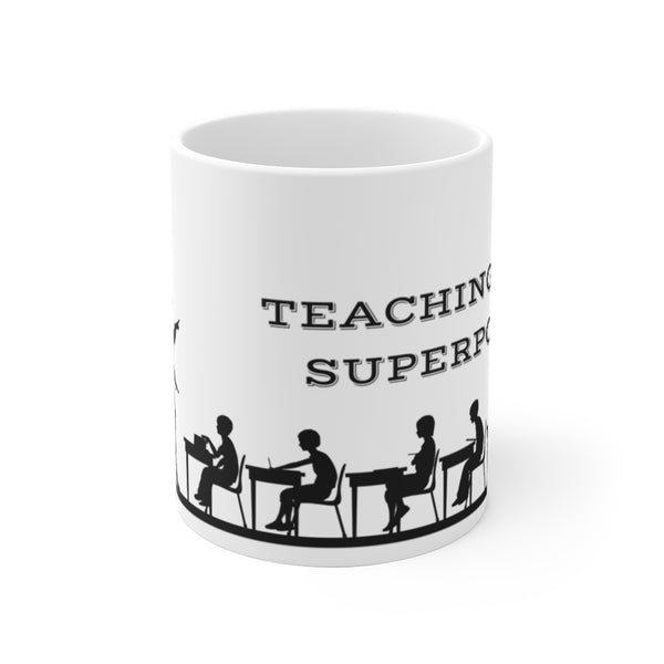 "Mug by JETT IMPRESSIONS ""Teaching Is My Superpower"" Coffee Mug for Teacher Gift"