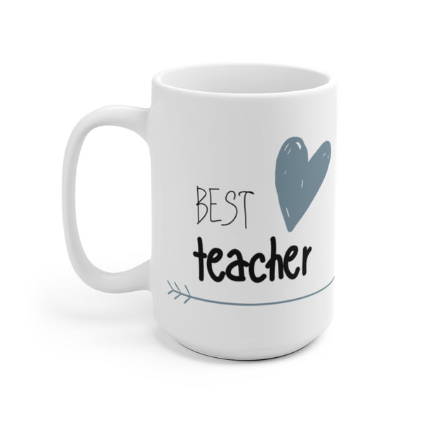"Mug by JETT IMPRESSIONS ""Best Teacher"" Tea or Coffee Mug for Teacher Gift"