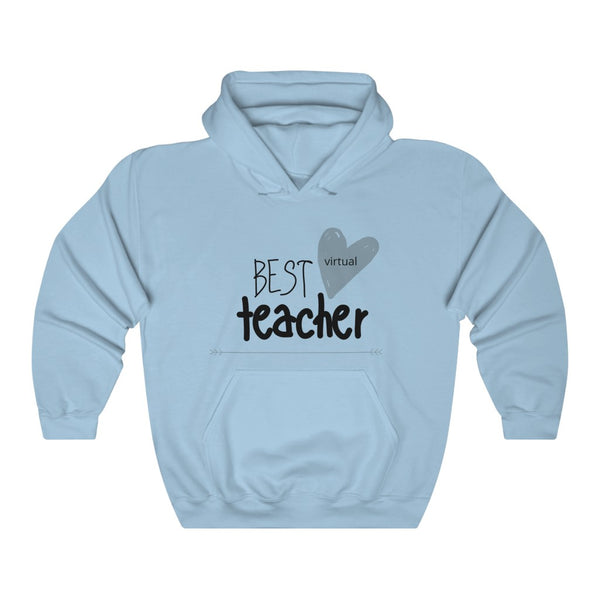 "Hoodie by JETT IMPRESSIONS ""Best Virtual Teacher"" Sweatshirt Hoodie for Teachers"