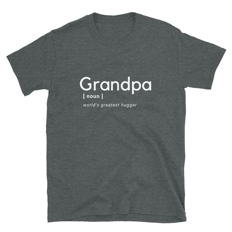 "T shirt by JETT IMPRESSIONS ""Granpa Noun"" T shirts for Grandpa"