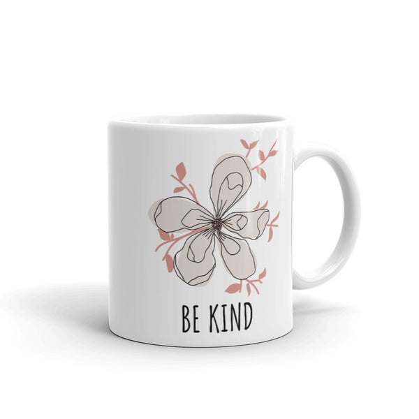 "Mug by JETT IMPRESSIONS ""Be Kind"" Inspiring Coffee or Tea Cup"