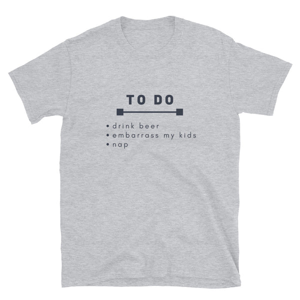 "T shirt by JETT IMPRESSIONS ""To Do List"" Funny Fathers Day T shirts for Men"