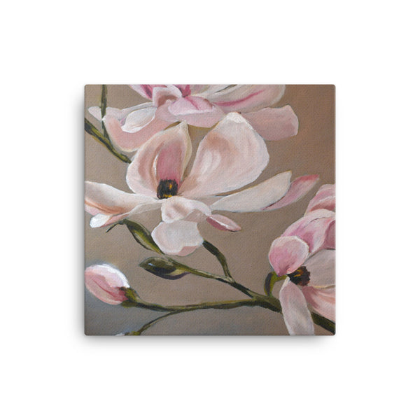 Canvas Wall Art by JETT IMPRESSIONS Pink and White Magnolia Gallery Wrap Print by Kathy Morawiec Artist