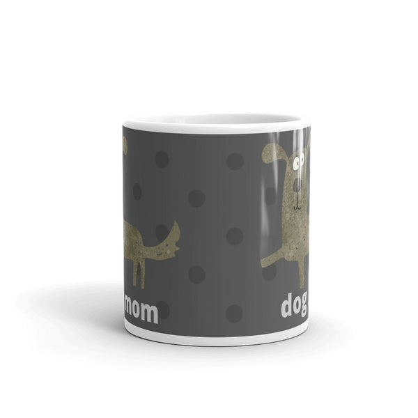 "Mug ""Dog Mom"" Coffee or Tea Mug Designed by Kathy Morawiec"