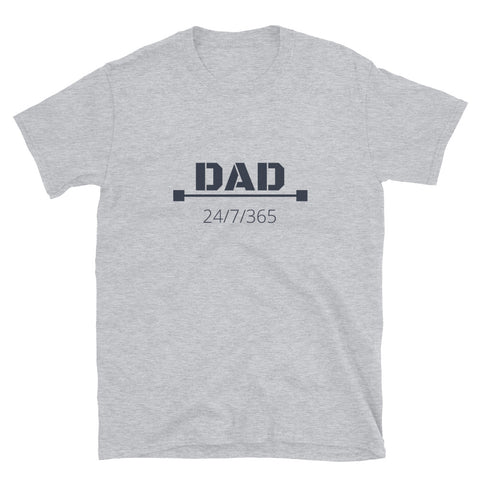 "T shirt by JETT IMPRESSIONS ""Dad 24/7/365""Fathers Day T shirts for men"