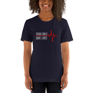 "T shirt by JETT IMPRESSIONS ""Tough Girls Save Lives"" Nurse Doctor Medic Womens T shirt"