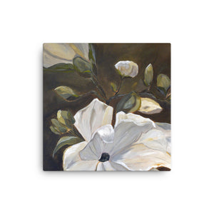 Canvas Wall Art by JETT IMPRESSIONS White Magnolia Gallery Wrap Print by Kathy Morawiec Artist