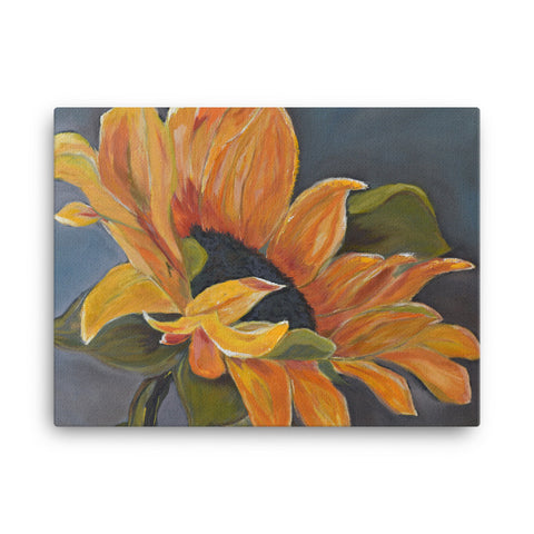 Canvas Wall Art by JETT IMPRESSIONS Yellow Sunflower Gallery Wrap Print by Kathy Morawiec Artist