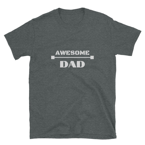 "T shirt by JETT IMPRESSIONS ""Awesome Dad"" Dark Fathers Day T shirt for men"