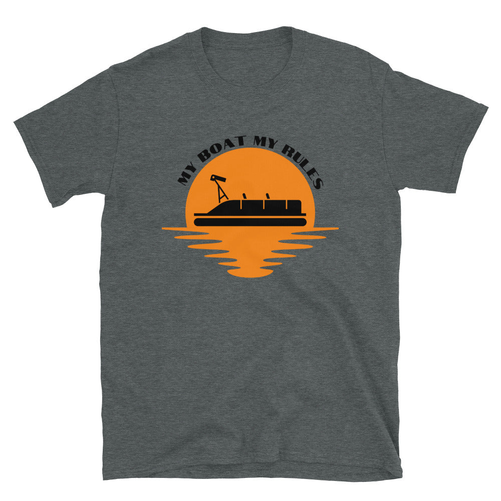 "T shirt by JETT IMPRESSIONS ""My Boat My Rules"" Pontoon Boat Lake T shirts for Men"