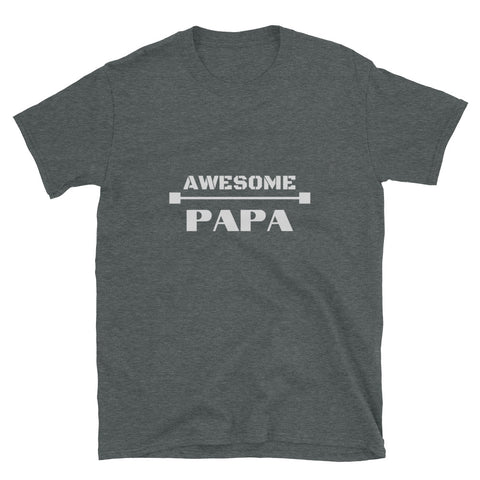 "T shirt by JETT IMPRESSIONS ""Awesome Papa"" Grandpa T shirt for Men"
