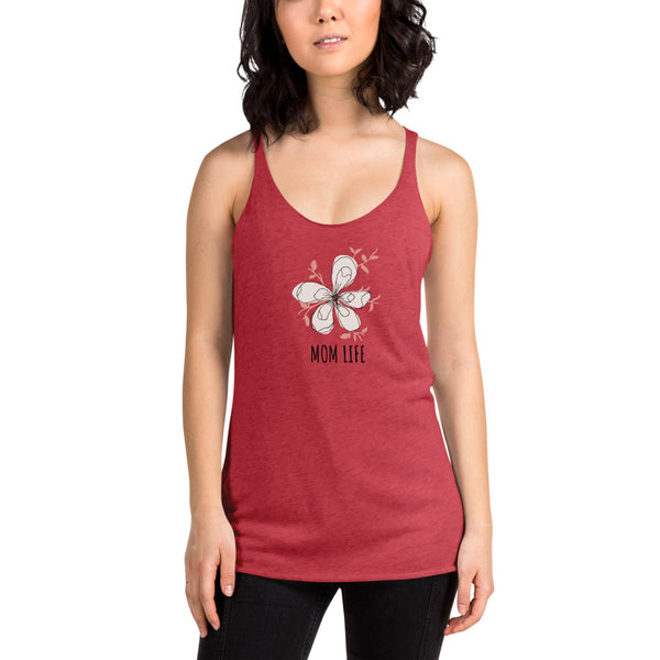 "Womens Racerback Tank by JETT IMPRESSIONS ""Mom Life"" Tank Top"