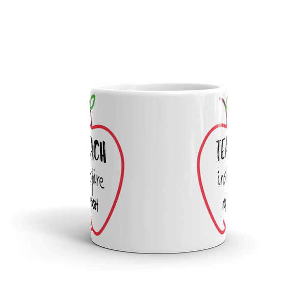 "Mug by JETT IMPRESSIONS ""Teach Inspire Repeat"" Coffee Mug for Teacher Gift"