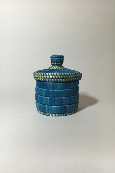 Blue Lidded Basket