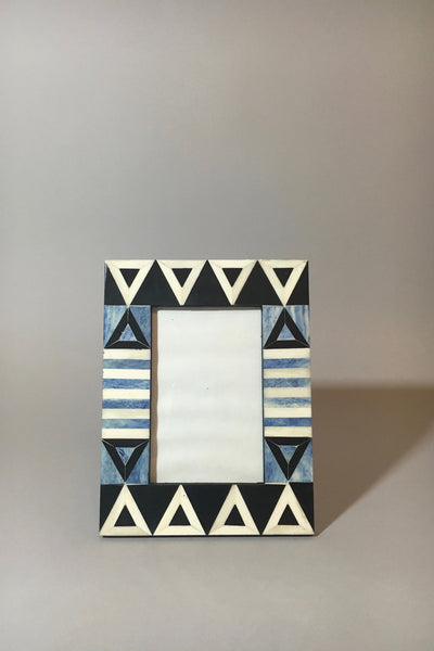 "Aelfie Okapi bone inlay frame, 4""x6"""