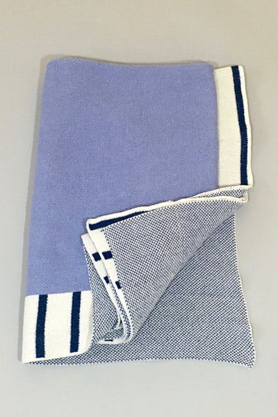 Aelfie Suzie Throw Blanket, blue