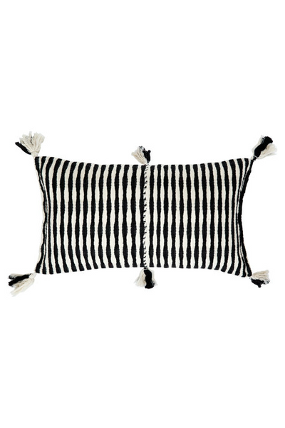 Archive New York Antigua Pillow, black stripe