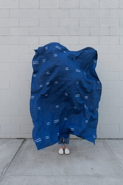 Caroline Z Hurley Oaxaca Indigo Throw