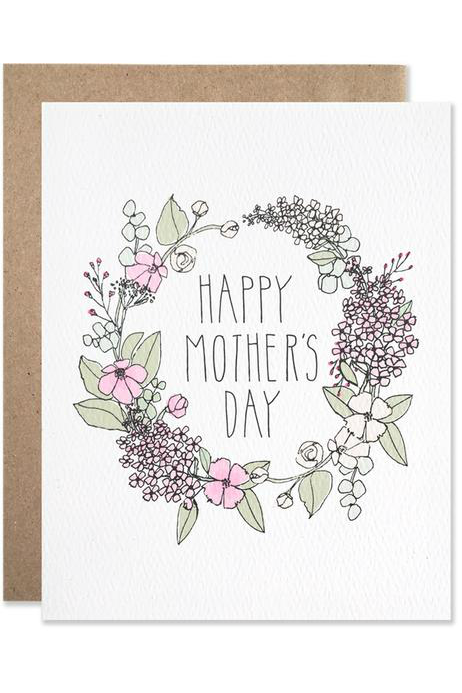 Hartland Brooklyn Floral Wreath Mother's Day Card