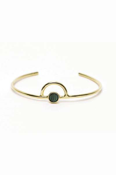 I Like It Here Club Galaxy Cuff, malachite/gold