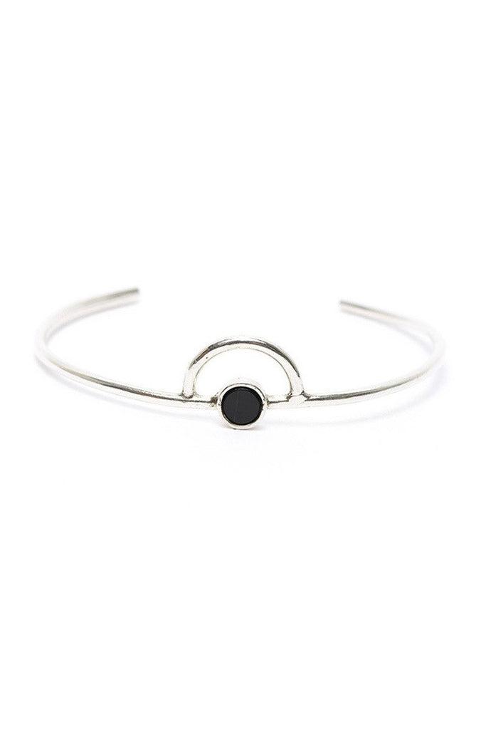 I Like It Here Club Galaxy Cuff, onyx/silver