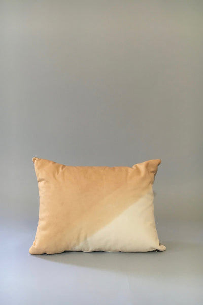 Materials + Process Two-Toned Modern Leather Pillow, medium, front view