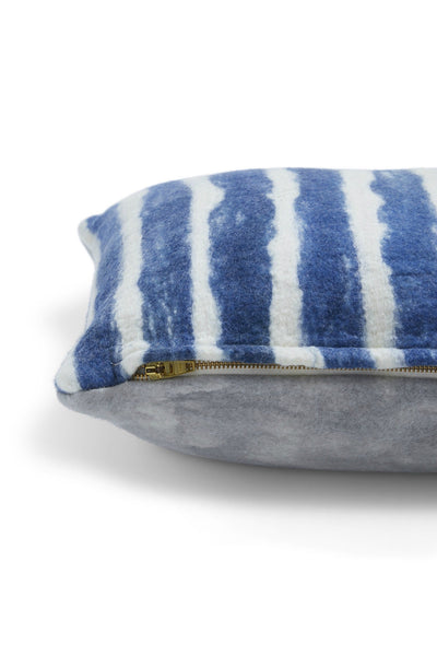 Minna Painted Stripes Pillow, blue