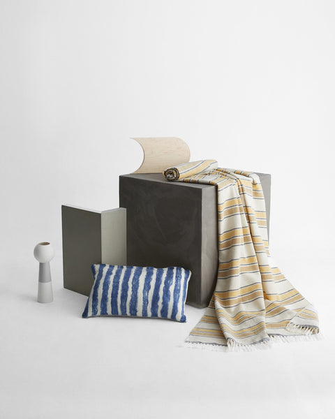 Minna Gold Stripe Throw