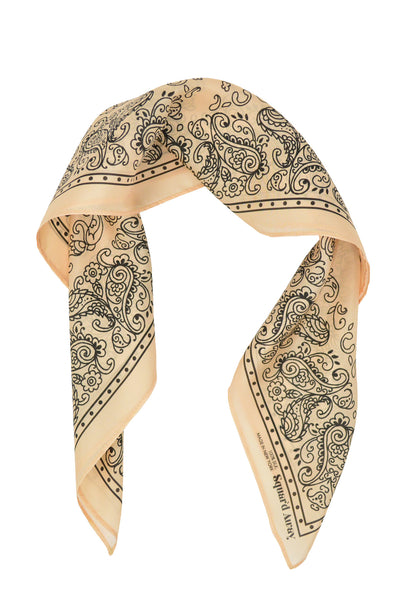Squar'd Away The Badlands Silk Scarf, cream