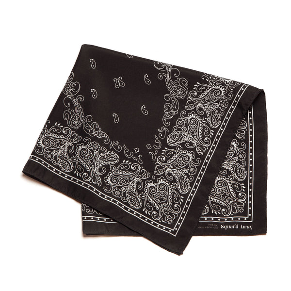 Squar'd Away The Badlands Silk Scarf, almost black