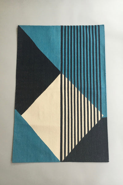Tantuvi Dusk Teal Striped Rug