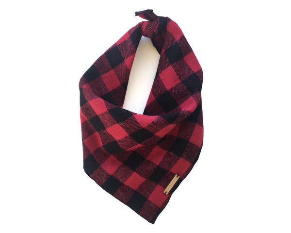 The Foggy Dog Buffalo Check Dog Bandana