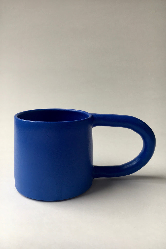 Workaday Handmade Short Mug in Blue