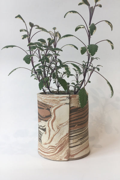 IIIVVVYYY Canyon Planter, brown multi