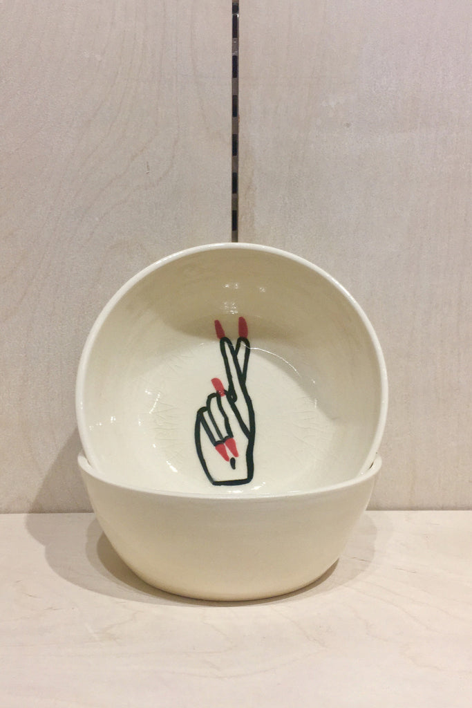 Jed Ceramics Fingers Crossed Bowl