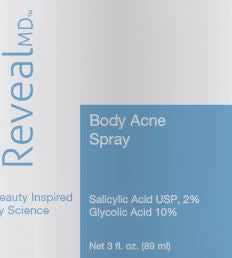 Body Acne Spray 10% Glycolic/2% Salicylic