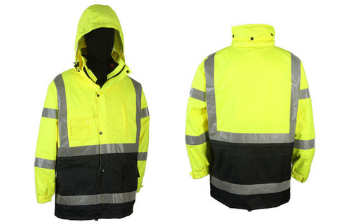 PARKA + BODY WARMER  100% WATER PROOF 4 IN 1 PARKA;  XG360C-3
